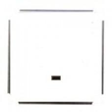 Механизм выключателя одноклавишного (зеленый СИ), цвет белый