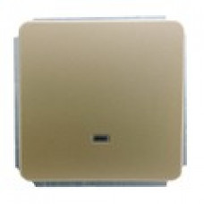 Механизм выключателя одноклавишного (зеленый СИ), цвет золото