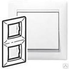 Рамка Valena - Белая - двухместная, вертикальная