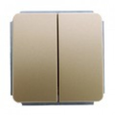Механизм выключателя двухклавишного , цвет золото