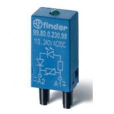Модуль Finder варисторный с cветодиодом AC/DC 220V