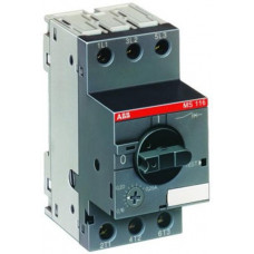 Автомат защиты двигателя MS116-0.16 50кА с регулируемой тепловой защитой 0.1A-0.16A