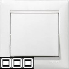 Рамка Valena 3-х местная горизонтальная (белый)