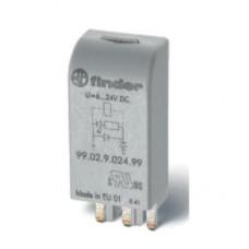 Модуль Finder защитный с диодом 6-24V DС