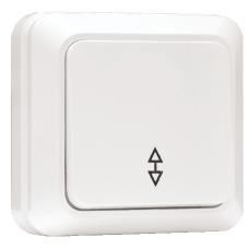 Выключатель проходной 1-клавишный «Рим», 10 А, белый